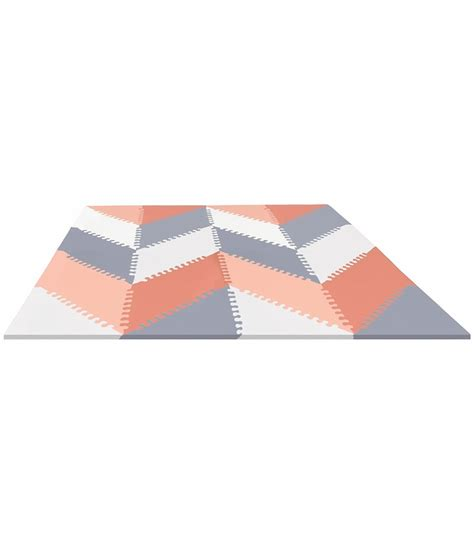 skip hop playspot geo interlocking foam tiles grey