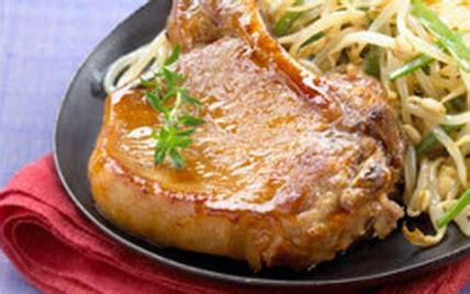 recette c 244 tes de porc laqu 233 es au miel 750g