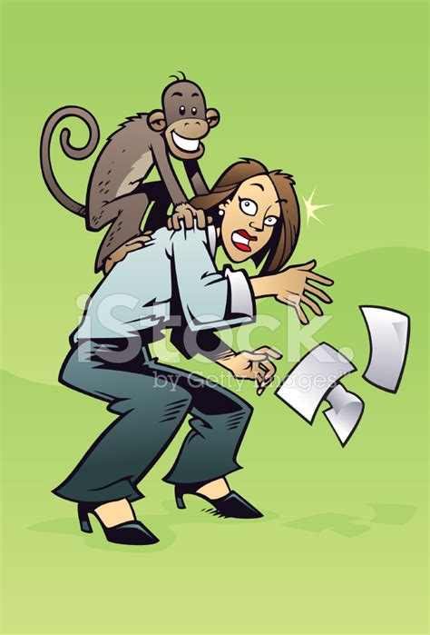 There's A Monkey On My Back! Stock Vector Freeimagescom