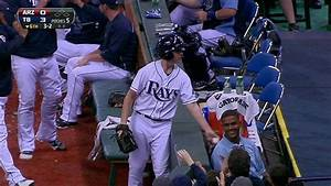 Rays' bullpen scatters as ballboy makes tough play - YouTube