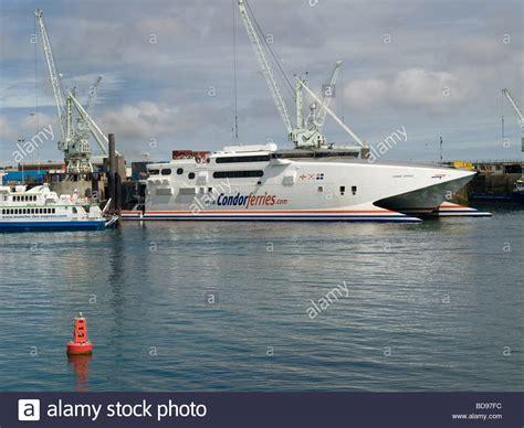 Catamaran Condor Ferries by Catamaran Ferry Condor Ferries Stock Photos Catamaran