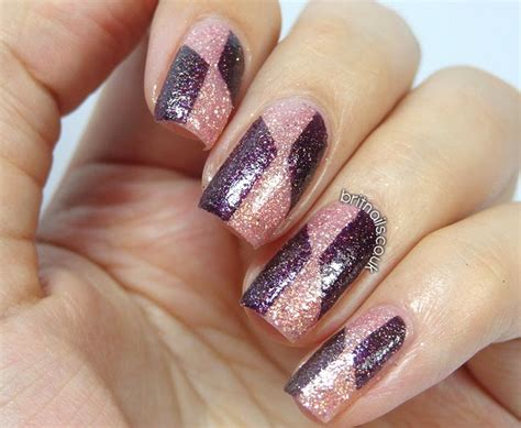 Barry M Royal Glitter Nail Art