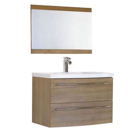 meuble de salle de bain avec vasque et miroir olea alin 233 a maison