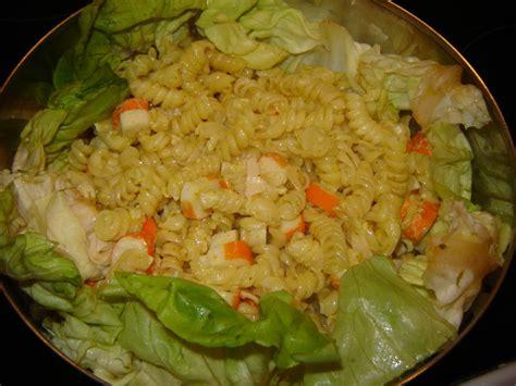 salade de p 226 tes surimi au curry un peu de r 234 ve dans ma cuisine