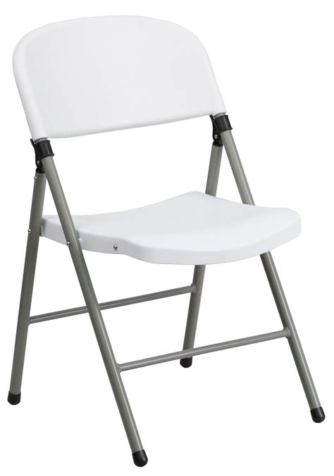 Hercules Resin Folding Chairs by Hercules Series White Plastic Folding Chair With Gray