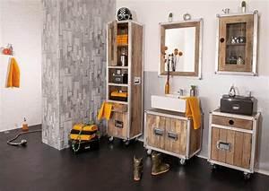Bad Set Holz : sam bad set 5tlg vintage holz metall mit rollen roadies ~ Markanthonyermac.com Haus und Dekorationen