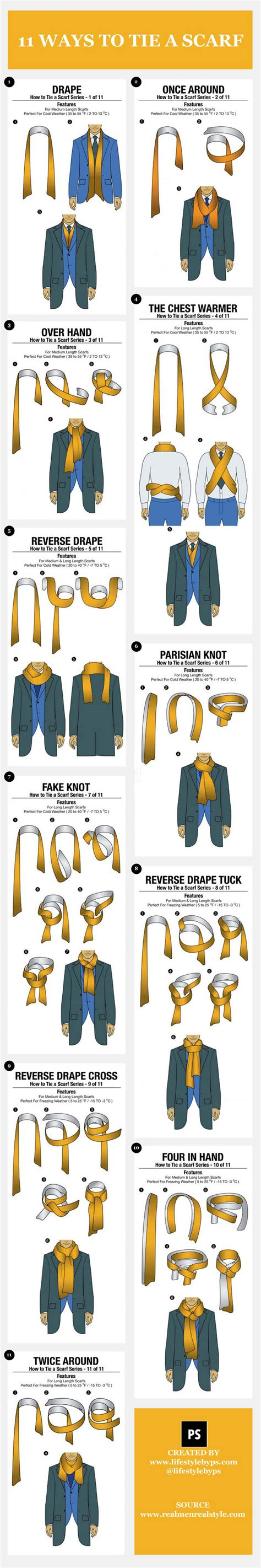 11 Different Ways To Tie A Scarf Brandongaillecom