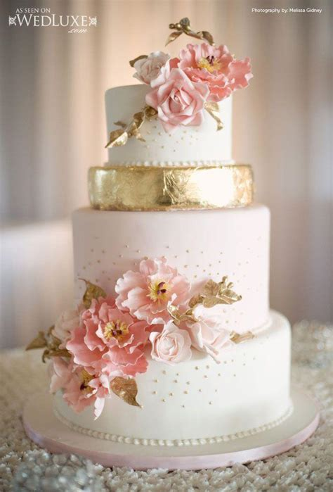 pink and gold cake gold wedding wedluxe pink and gold cake 2040068 weddbook