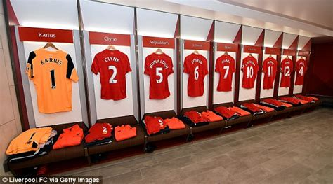 E G Home Decor Liverpool : Liverpool Fc Unveil New Home Dressing Room At Anfield