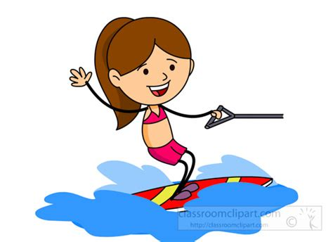 Cartoon Boat Wake by Water Sports Wake Boarding Water Sports Clipart 6215