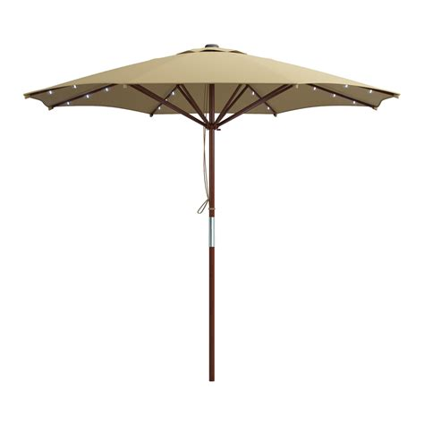 corliving pzt 7 patio umbrella with solar power led lights lowe s canada