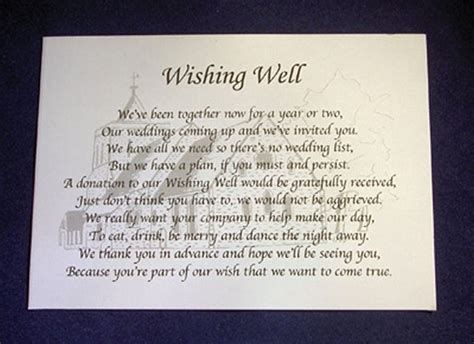 Personalised Wishing Well Money Request Poem Gift Cards. Wedding Party Gifts Canada. Nerdy Wedding Favor Ideas. Wedding Ideas Edinburgh. Wedding Reception Venues North Wales. Personalised Wedding Candles Ebay. Wedding Officiant Key West. Wedding Dresses With Cowboy Boots. Kimye Wedding Fashion