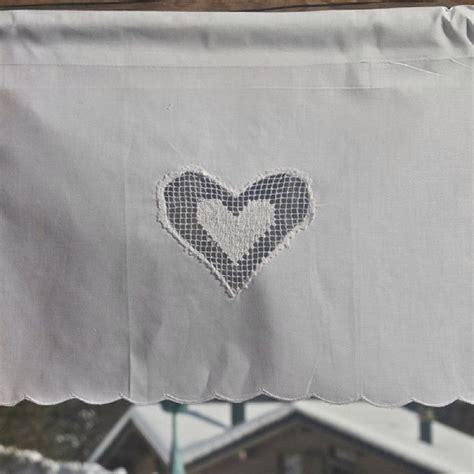 rideau brise bise coton blanc coeur ajour 233 les sculpteurs du lac
