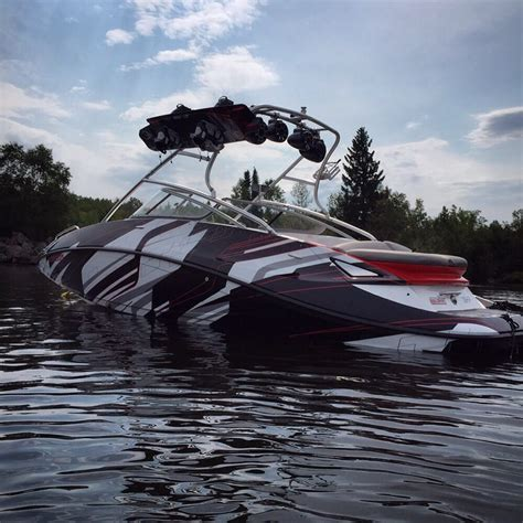 Wake Boat Maintenance by Seadoo Challenger Boat Wrap Yelp