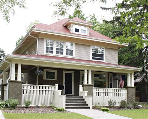 chic modern american foursquare house plans modern house