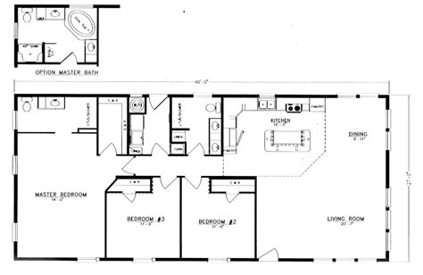 20 X 40 Home Design : 20 X 60 Mobile Home Floor Plans