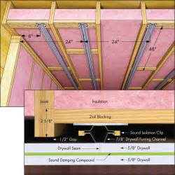 sound proofing ceiling between floors method to conserve ceiling height using blocking for