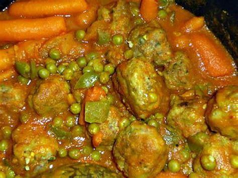 recette de boulettes de bœuf aux petits pois carottes