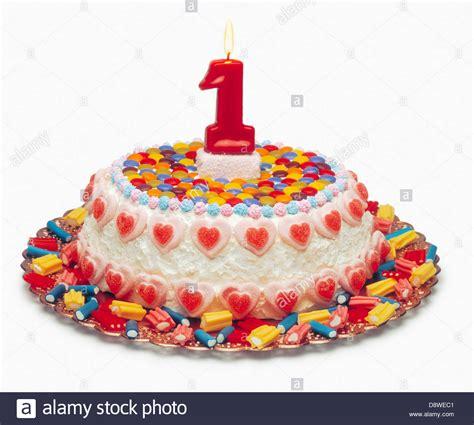 one year birthday cake 1 year birthday cake stock photo royalty free image