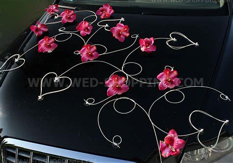 d 233 coration voiture mariage orchid 233 es fonc 233 et le cœur