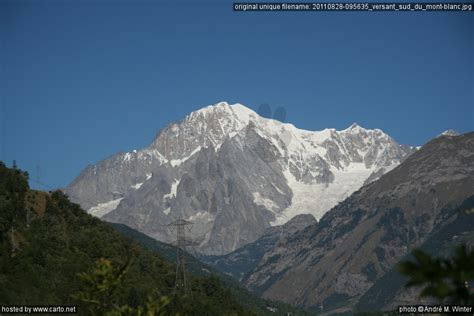 versant sud du mont blanc cogne et le col du petit bernard ao 251 t 2011