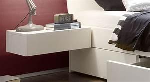 Nachttisch Weiß Metall : h nge nachttisch mit schublade in wei liverpool ~ Markanthonyermac.com Haus und Dekorationen