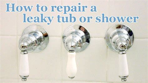how to repair a leaky shower or tub faucet pretty handy