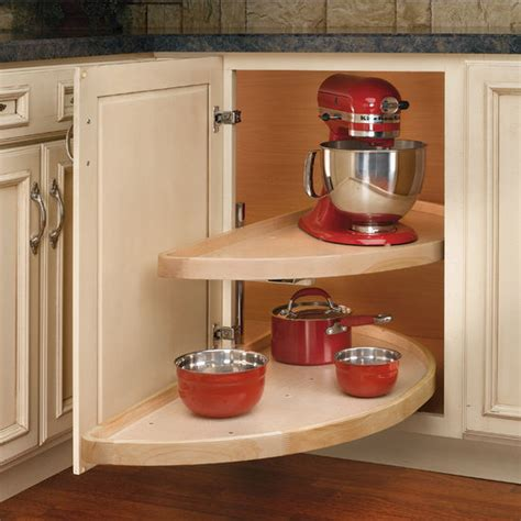 Blind Corner Base Cabinet Lazy Susan by Rev A Shelf Wood Classic Quot Half Moon Pivot And Slide 2