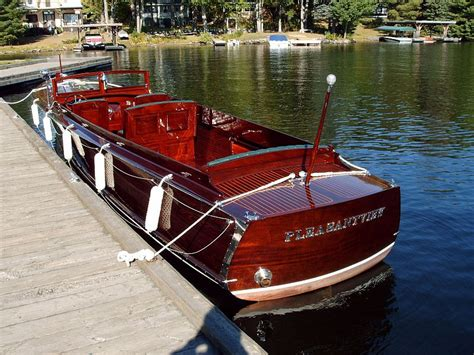Old Wooden Boats For Sale by Wooden Long Deck Launch For Sale Port Carling Boats