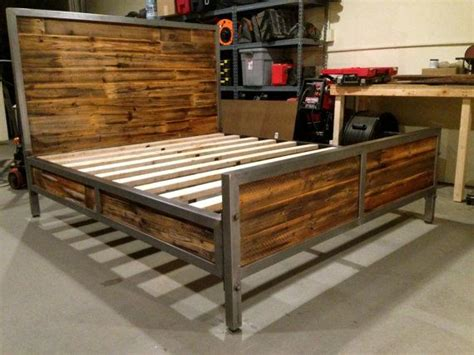 17 best ideas about industrial bed frame on