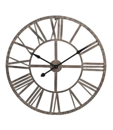 horloge murale 224 l ancienne en fer forg 233 noir wadiga