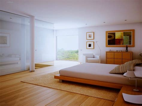 Bedroom With Wood Floor, White Bedroom Wood Floors And