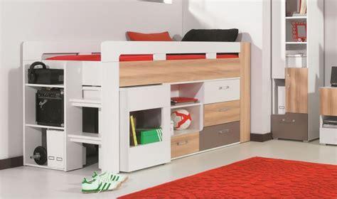 lit avec bureau et commode puzzle lit combin enfant et adolescent pas cher