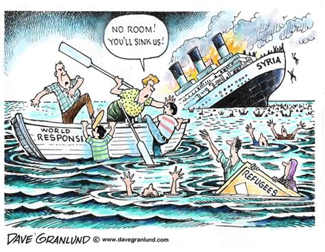 Cartoon Refugee Boat by Dave Granlund Editorial Cartoons And Illustrations