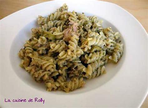 recette de p 226 tes au thon et pesto rapide