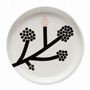 Teller Schwarz Weiß : hortensie teller 32 cm von marimekko kaufen ~ Markanthonyermac.com Haus und Dekorationen