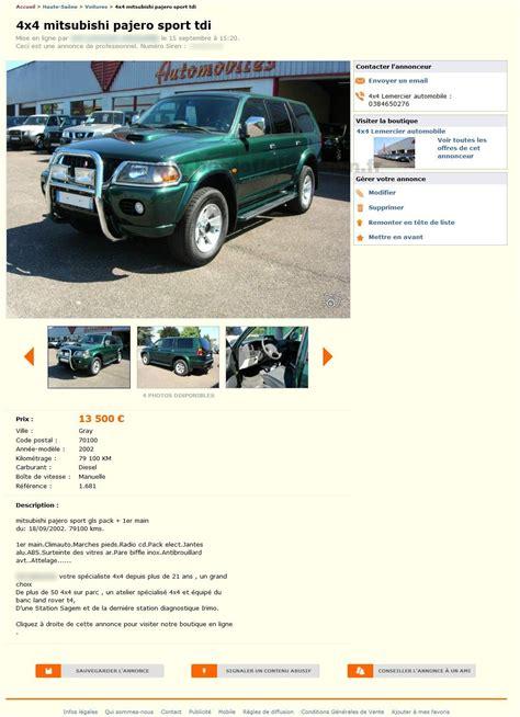 4x4 mitsubishi pajero voitures franche comt 233 best of le bon coin