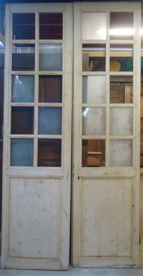 porte interieure ancienne vitr 233 e 2 vantaux en aube
