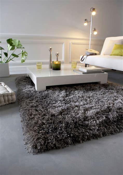 tapis shaggy gris argent photo 7 10 un magnifique