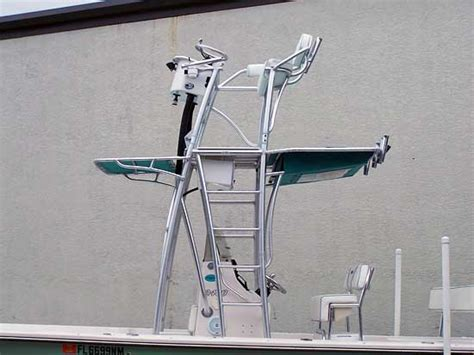 Boat Tower Control Station by Custom Flats Boat And Bay Boat Towers By Action Welding