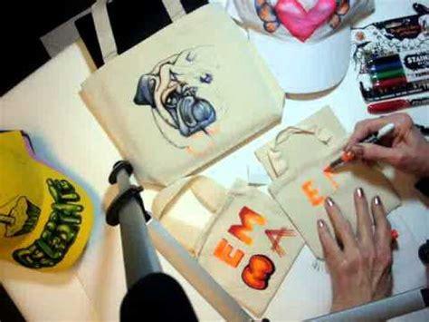 sharpie fabric marker pug bag a c