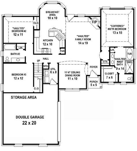654350 3 bedroom 2 bath house plan house plans floor