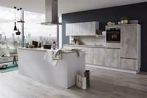 Küchen Aktuell Hannover : musterring k che mr2850 farbe beton natur modern k che hannover von k chen aktuell ~ Markanthonyermac.com Haus und Dekorationen