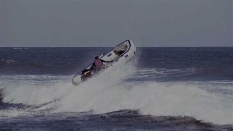 Zodiac Boat Ocean by Jumping Waves In The Atlantic Ocean With A Sea Eagle 14sr