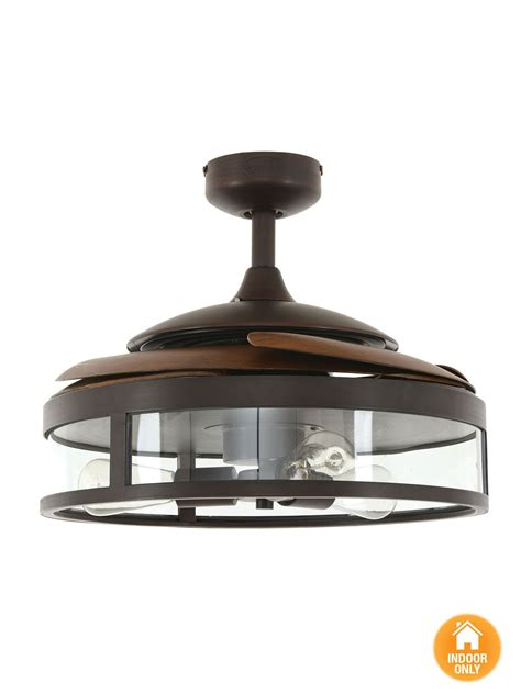 fanaway classic orb ceiling fan with clear retractable blades and light ceiling fans