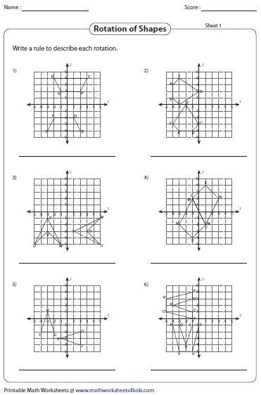 Rotation Worksheets
