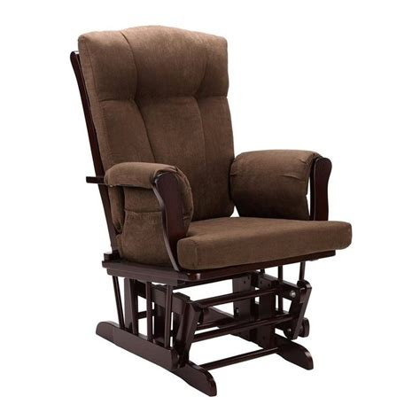 glider rocking chair and ottoman in espresso wm4041