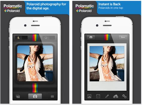 polaroid lance application iphone belgium iphone