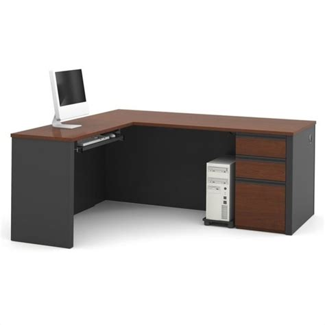 bestar prestige l shaped workstation with single pedestal