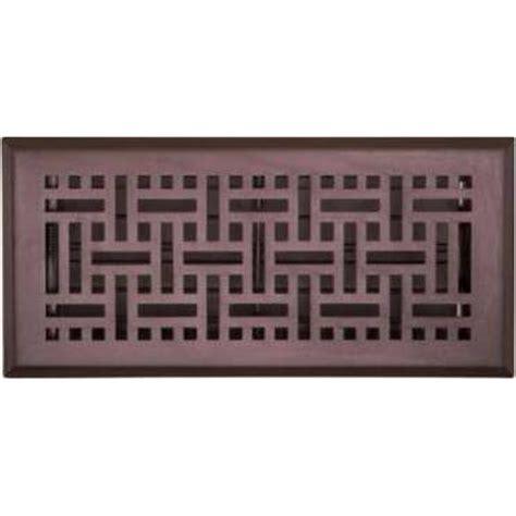 accord 10 x 30cm rubbed bronze wicker floor register